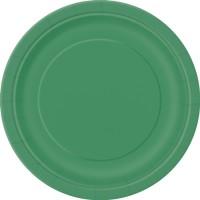 Emerald Green 9'' Round Plates 16 CT.