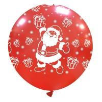 """Cute Santa Claus 32"""" Latex Balloon 1Ct"""