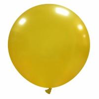"32"" Gold Metallic Latex Balloon 1ct"