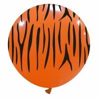 "32"" Orange Tiger Stripes Balloons 1Ct"