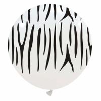 """32"""" White Tiger Stripes Balloons 1Ct"""