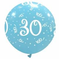 "32"" Sky Blue 30 Latex Balloon 1Ct"