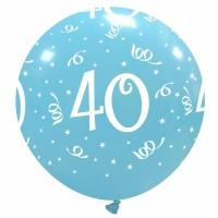 "32"" Sky Blue 40 Latex Balloon 1Ct"