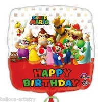 "Super Mario - Happy Birthday - 18"" Foil Balloon"