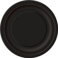 Midnight Black 9'' Round Plates 16 CT.