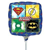 "Justice League Emblems 9"" - Inflated With Cup & Stick"