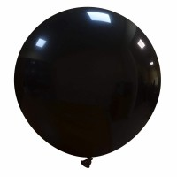 "32"" Black Latex Balloon 1ct"