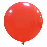 "32"" Light Red Latex Balloon 1ct"