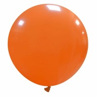 "32"" Orange Latex Balloon 1ct"