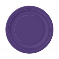 Deep Purple 9'' Round Plates 16 CT.