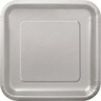 Silver 9'' Square Plates 14 CT.