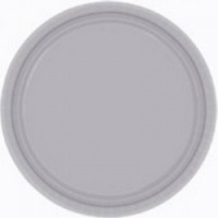 Silver 9'' Round Plates - 16 CT.