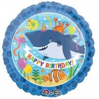 "Happy Birthday Under The Sea Themed 18"" Foil Balloon"