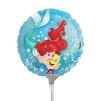 "Disney Princess Ariel 9"" - Inflated With Cup & Stick"