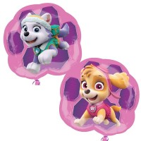 "Paw Patrol Skye & Everest Shape 25"" x 23"""