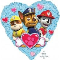"Heart Shaped Paw Patrol 18"" Foil Balloon"