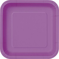 Pretty Purple 9'' Square Plates 14 CT.