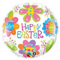 "Easter Colorful Blossoms 18"" Foil Balloon"