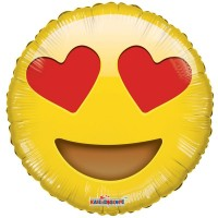 """Smiley in Love Character - 18"""" Foil Balloon"""