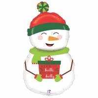 "Happy Snowman 40"" Foil Balloon"