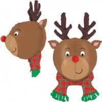 "Rudolph Multi-Sided 35"" Foil Balloon"