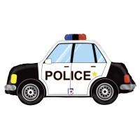 "34"" Police Car SuperShape Foil Balloon"