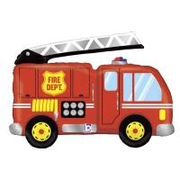 """Red Firetruck 40"""" Supershape Foil Balloon"""