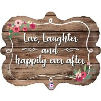 """Love Laughter and Happily Ever After 30"""" Supershape"""