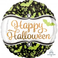 "Happy Halloween Spooky Creatures 18"" Foil Balloon"