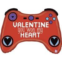 "Valentine's Gamer 34"" Foil Balloon"