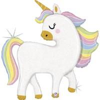 "Glittery Pastel Magical Unicorn 48"" Foil Balloon"