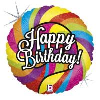 "Lollipop Birthday 18"" Foil Balloon"