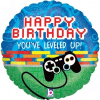 "Happy Birthday Gamer 18"" Foil Balloon"