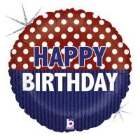 """Nautical Birthday 18"""" Foil Balloon"""
