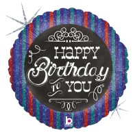 "Happy Birthday to You Chalkboard 18"" Foil Balloon"