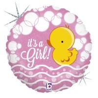 "Bubble Duck Girl 18"" Foil Balloon"