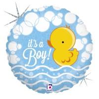 "Bubble Duck Boy 18"" Foil Balloon"
