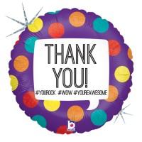 """Hashtag Thank You 18"""" Foil Balloon"""