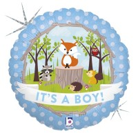"Woodland Baby Boy 18"" Foil Balloon"