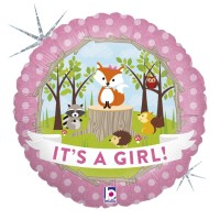 "Woodland Baby Girl 18"" Foil Balloon"