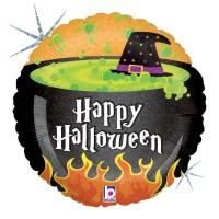 "Halloween Cauldron 18"" Foil Balloon"