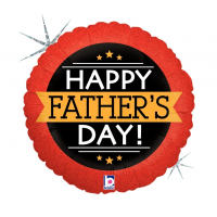 "Happy Father's Day - Red and Black 18"" Foil Balloon"