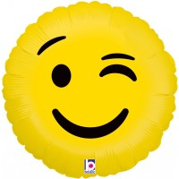 "Smiley Wink Character - 18"" Foil Balloon"