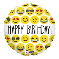 """Emoji Birthday 18"""" Foil Balloon"""