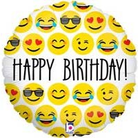 "Emoji Birthday - 18"" Foil Balloon"