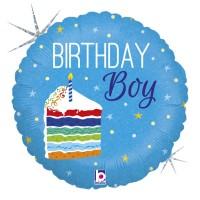"Birthday Cake Boy 18"" Foil Balloon"