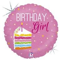 "Birthday Cake Girl 18"" Foil Balloon"