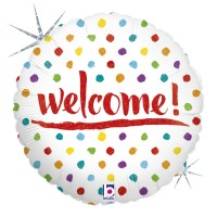 "Welcome Dots 18"" Foil Balloon"