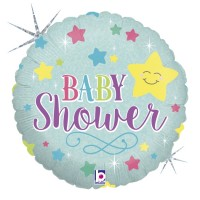 "Baby Star Shower Holographic 18"" Foil Balloon"