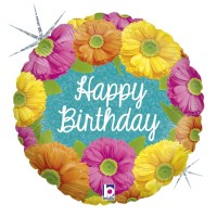 """Bright Birthday Blooms Holographic 18"""" Single Pack"""